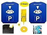 Gibtplus 2 Stück Parkscheibe Parkuhr mit Reifenprofiltiefenmesser
