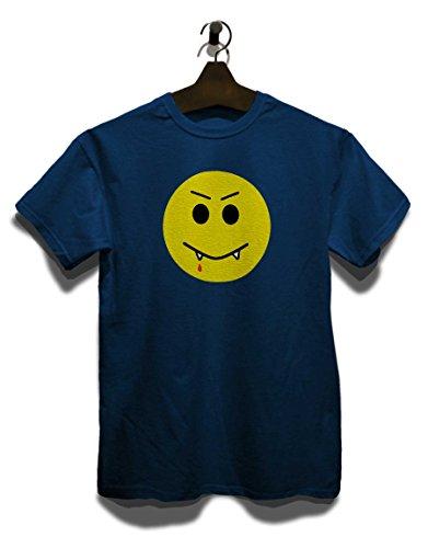 Vampir Smiley T-Shirt Navy Blau