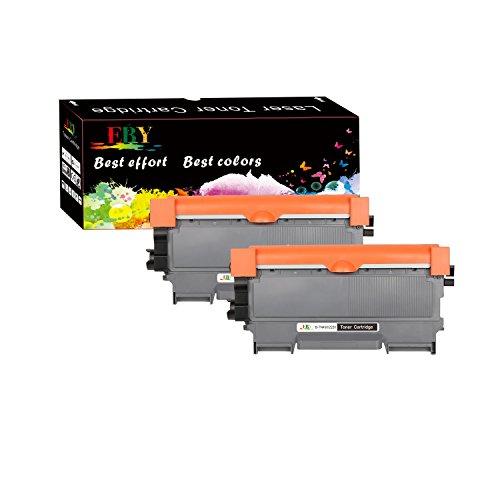EBY 2 Toner Kompatibel für Brother TN-2220 TN2220 TN-2010 TN2010 für Brother DCP-7065dn DCP-7070dw DCP 7060d Fax 2840 2940 DCP-7055 W DCP-7057 HL-2130 R HL-2132 R HL-2135 W,Schwarz 2.600 Seiten