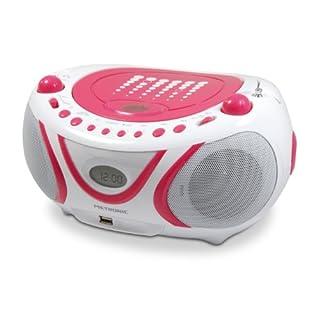 Metronic 477109 CD-MP3-Radio Pop Weiß/Rosa