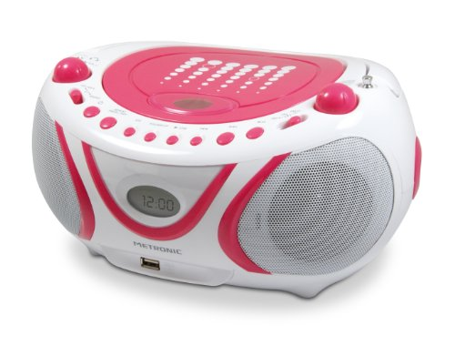 Metronic 477109 CD-MP3-Radio Pop Weiß/Rosa