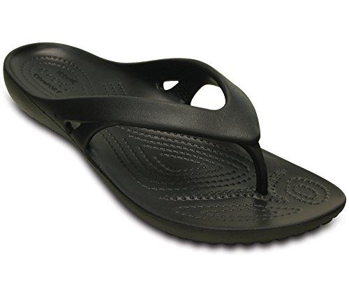 crocs Damen Kadeeiiflipw Pantoletten Black