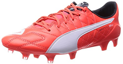 PumaevoSPEED SL Lth FG - Scarpe da Calcio Uomo Orange (lava blast-white-total eclipse 01)