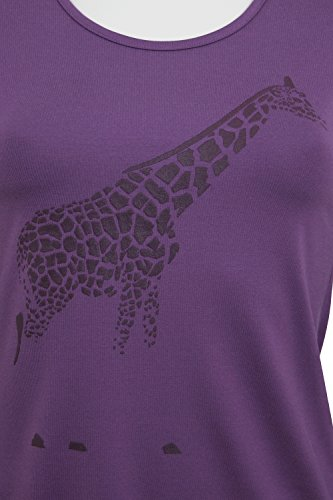 fashion4EVA Rundhals-Langarmshirt mit Front-Print Made in Germany lavendel/Giraffe