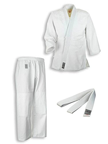 Ju-Sports Judoanzug Bonsai mit Weißgurt für Kinder und Anfänger, 9016, Gr.110