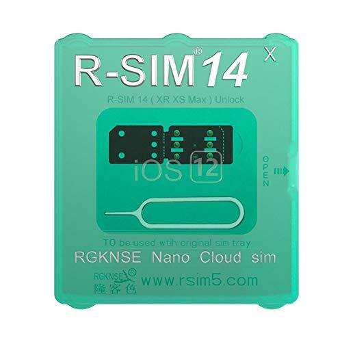 Silverbirdly R-SIM 14 RSIM Nano Entsperrungskarte für iPhone 5 5S 5C 6 6S 7 8 Plus X XR XS MAX mit SIM Werkzeug (Iphone 5 Sim Karten Verizon)