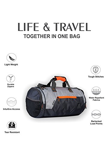 Gear Polyester 38 cms Grey Travel Duffle (DUFCRSTNG0406) Image 2