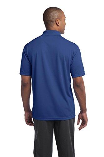 sport-tek Herren 's Active Strukturierte Polo Sport Shirt Blau - True Royal