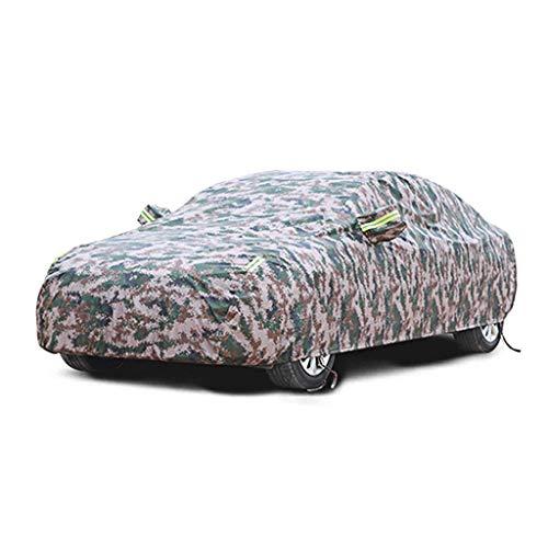Yuany Autoabdeckung Kompatibel mit Nissan Qashqai Autoabdeckung Außen Allwetter Wasserdicht Und Staubdicht Sonnenschutz Oxford Vollständige Autoabdeckung (Farbe: Tarnung, Größe: Einschichtig)