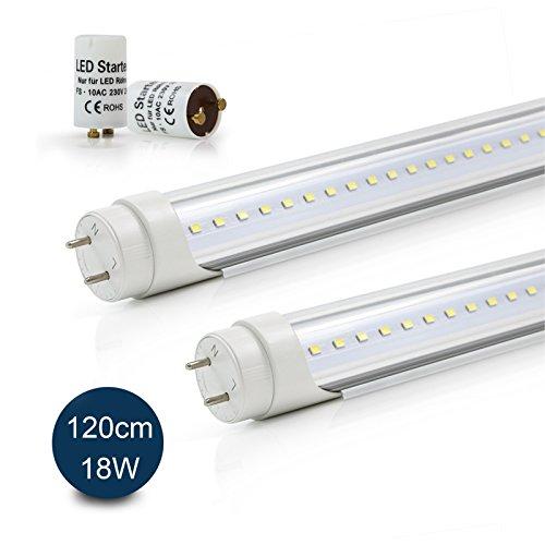 2x Vkele Tubi Fluorescenti LED 120cm Bianco Freddo 6000K 18W Dissipatore Di  Calore In Alluminio  Tubo Al Neon 36watt Sostituzione Per Lampada T8 Lampada  Da ...