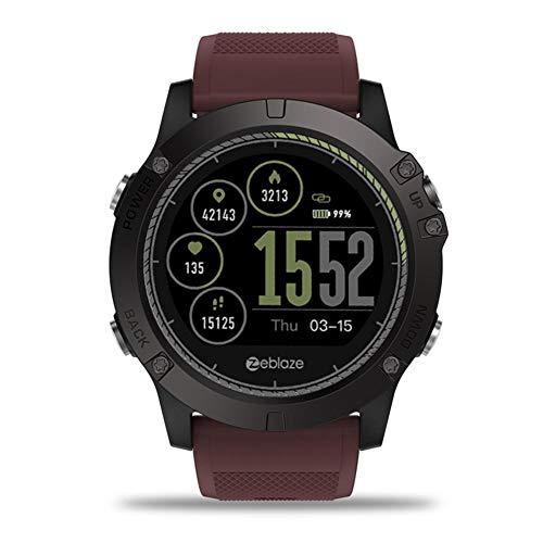 pretty-H Intelligente Watch 1.22 \'IPS Inside Out HR-Monitor 3D-Benutzeroberfläche Für Ganztägige Aktivitäten Monitor Smart Watch Für Zeblaze Vibe 3 HR