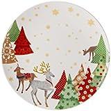 Hutschenreuther sammel Serie de canciones de Navidad o Árbol Plato para galletas (28cm, porcelana, multicolor, 28x 28x 3cm