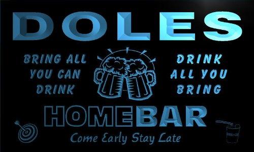 q11854-b-doles-family-name-home-bar-beer-mug-cheers-neon-light-sign
