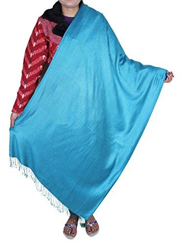 Womens lunga sciarpa turchese - bella grande