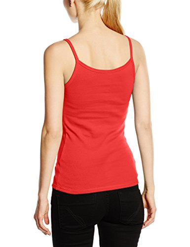 Fruit of the Loom SS089M, T-Shirt Femme Rouge