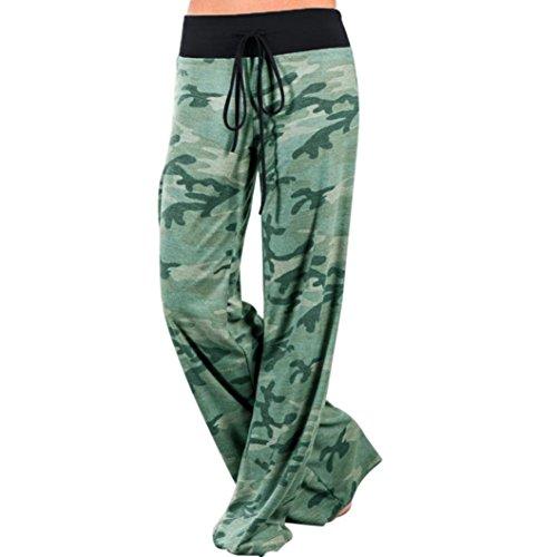 Kostüm Indien Schwimmen Für Herren (DOLDOA Frauen-Tarnungs-Drucke Drawstring-breite Bein-Hose-Gamaschen (Größe: L Taille: 75 ~ 78cm / 29.5