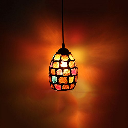 Frideko Modern Mosaic Lamp Shade Ceiling Pendant Light for Living Room Bar Pub Restaurant Coffee Shop (Type A)