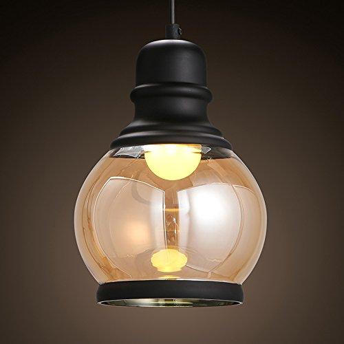 BBSLT American semplicità rurale singola testa Ciondolo oro rosa lampadario di vetro ferro portico ristorante, abbigliamento la barra 151*2230mm , bianco caldo