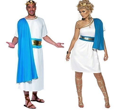 ren, Roman Toga Party Kostüm historischen Altgriechisch Greecian Outfit (Toga Party Kostüme)