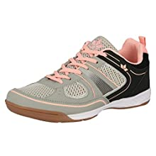 Lico Women's Recent Multisport Indoor Shoes, Grey (Grau/Rosa Grau/Rosa), 4 UK