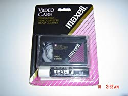 Maxell Vhs-c Head Cleaner With Cleaning Solution - This Is For Compact Vhs Size Not Standard Vhs