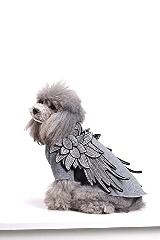 Tendance Chic Ailes Broderie pour animal domestique Chien T-shirt Vêtements Gilet Manteau Chiot Costumes Outfit Vêtements pour chien et chat