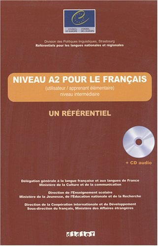 Un Referentiel: Niveau A2 Livre + CD by Jean-Claude Beacco (2006-10-07)