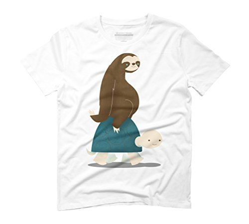 Slow Ride Men's Graphic T-Shirt - Design By Humans White