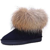 SHAOYE Da donna Scarpe Pelle Inverno Stivali da neve Stivaletti alla  caviglia Fodera di lanugine Stivaletti 6ac2966d8a4