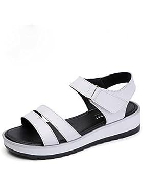 pengweiSandalias se?oras verano plano salvaje simple antideslizante zapatos casuales , white , CN39 , us8.5/ eu39...