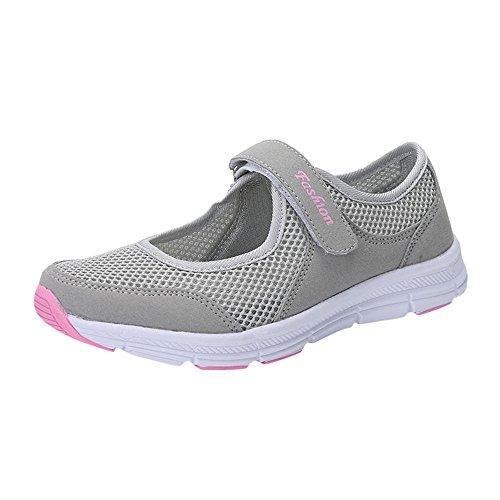 Overdose-Chaussures Chaussures Cateau Soldes Femme Tennis à Enfiler Pas Cher Trainers en Maille Plates Été Automne Comfort Sportswea