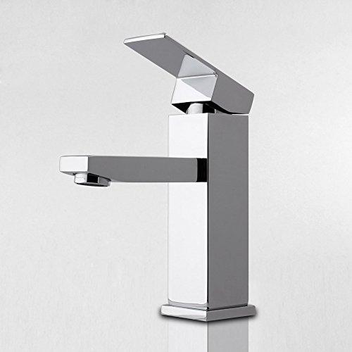 MVPower® Wasserhahn Waschtischarmatur Einhandmischer Waschbecken Bad Küche Armatur Messing verchromt massiv - 4