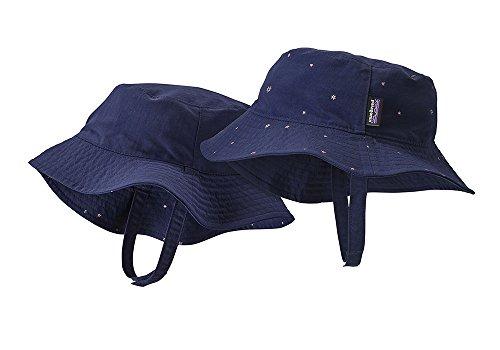 Patagonia Baby Sun Bucket Mütze, Unisex Kinder M Blau (mcquail Classic Navy)