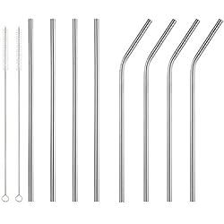UEETEK 8pcs reutilizable de acero inoxidable Pajitas para Yeti 20oz 30oz con 2 limpiadores