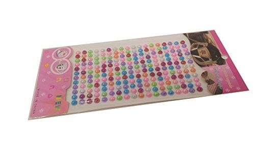 Anokhi Ada Half Pearl 6 mm diameter Crystal Bead Sticker Sheet (Set of 3 sheets)