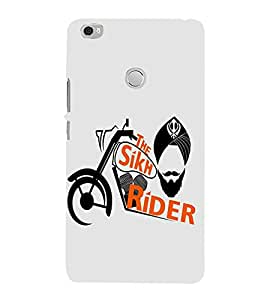 FUSON The Sikh Raider Khanda 3D Hard Polycarbonate Designer Back Case Cover for Xiaomi Mi Max :: Xiaomi Mi Max Prime