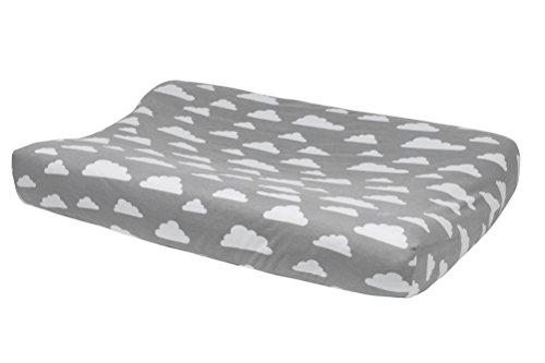 Preisvergleich Produktbild Meyco 516095 Wickelauflagenbezug 2-Keil Wolke, grau
