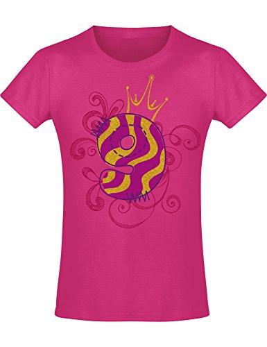 Mädchen Geburtstags T-Shirt: 9 Jahre mit Krone - Neun Neunter Geburtstag Kind-er - Geschenk-Idee - Prinzessin Princess - Glitzer Pink Rosa - Niedlich - Kindergeburtstag - Jahrgang 2010 (152)