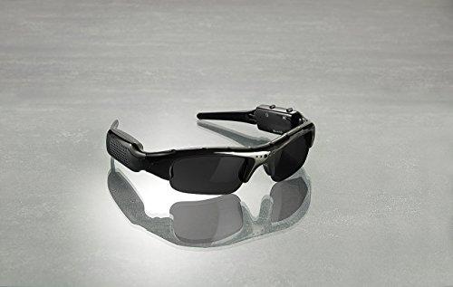 OctaCam Kamerabrille: HD-Kamera-Sonnenbrille HDC-700 mit 720p-Auflösung und UV400-Schutz (Brille mit Kamera)