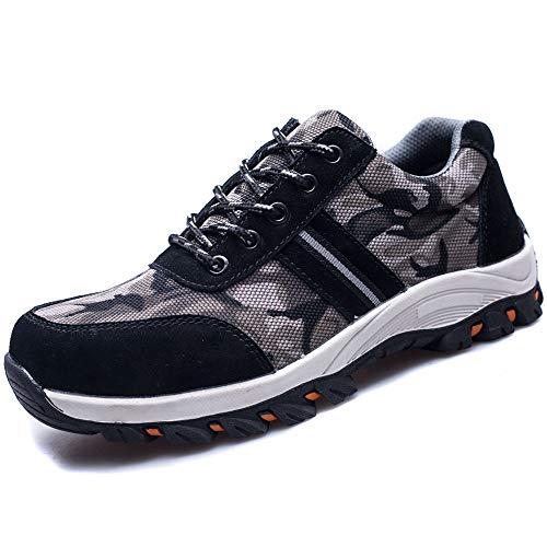 Zapatos Trabajo Hombre Zapatillas de Seguridad Puntera de Acero Mujer Botas Proteccion Excursionismo...