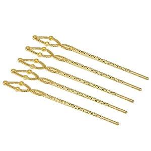 Generic Haarstab – Haarnadel – Haar Stäbchen – aus Metall – 5Pcs – Verdreht Form – Chignon Nadeln – Haarschmuck