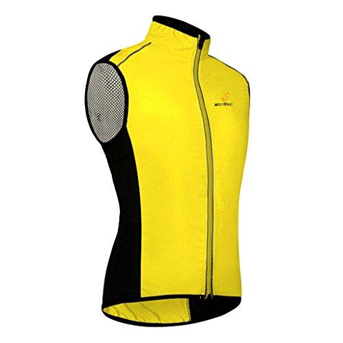 Homyl Unisex Reflektierende Fahrradweste / Laufweste / Radweste / Damen Herren Radfahren Radsport Reiten Weste - Gelb, XL -