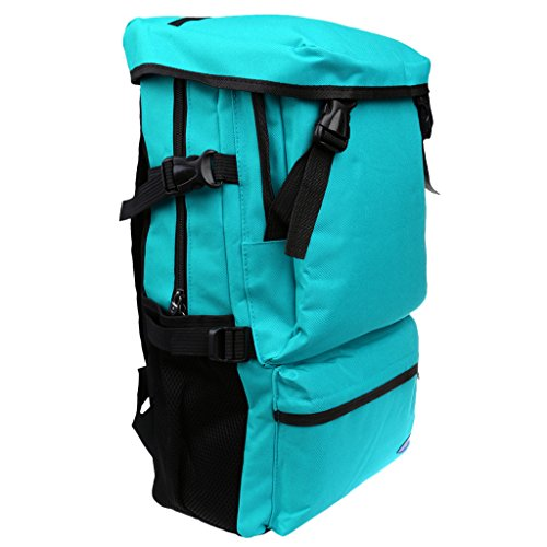 Gazechimp Erwachsene Unisex Rucksack Camping Reise Wandern Sporttasche Wanderrucksack Trekkingrucksack Rucksack - Rose Red Himmelblau