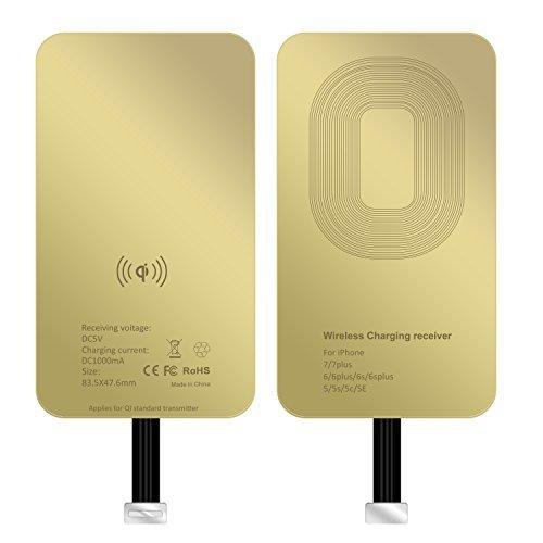 ASAKUKI iPhone Wireless Charging Empfänger, superdünn Kupfer Coil Patch mit Überspannungsschutz für Qi Wireless Charging Pads–Smart & Fast Mikrochip Technologie für Apple Smartphone Geräte