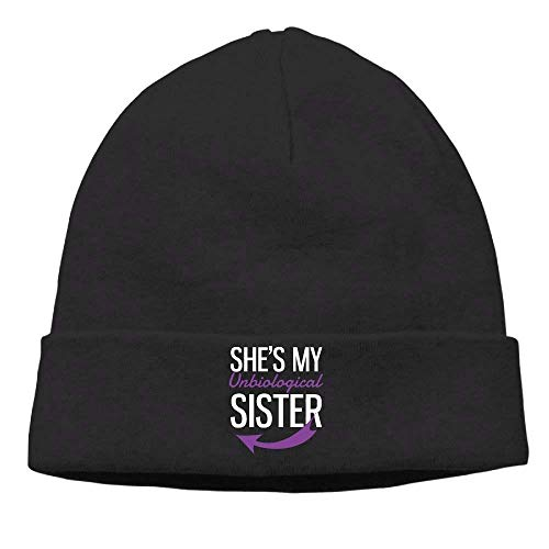 Momen's She's My Unbiological Sister Purple Fashion Street Dance Black Beanies Skull Cap - Girls-cable Knit Tights