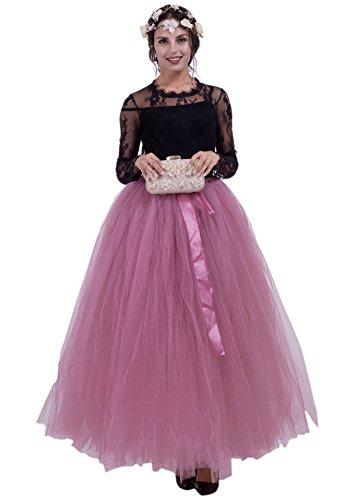 Honeystore Damen's Rock Tutu Tuturock Tütü Petticoat Tüllrock mit Gummizug für Karneval, Party und Hochzeit Pflaume One - Aktuelle Halloween-party-songs
