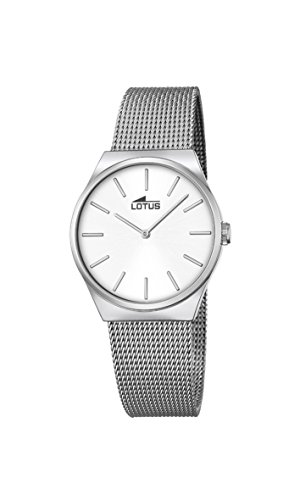 7c6964dc0a9f Lotus - Reloj de cuarzo para mujer con esfera analógica y plata pulsera de acero  inoxidable 18288 1