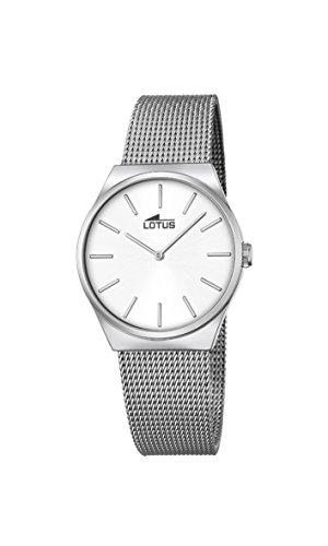 Lotus Damen Analog Quarz Uhr mit Edelstahl Armband 18288/1