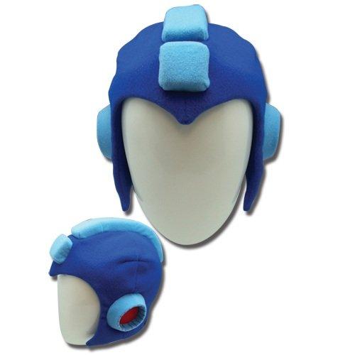 Mega Man 10Plüsch Kopfhörer X Megaman Protoman Kostüm blau Hat Kopfhörer (Man X Kostüme Mega)