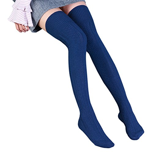 TinTop Hohe Socke Overknee Strümpfe Überknie Kniestrümpfe Mädchen Baumwolle Hold-up-Strümpfe...